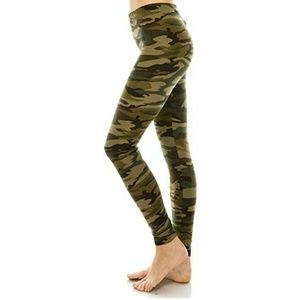 Pants - Woodland Camouflage Yoga Leggings